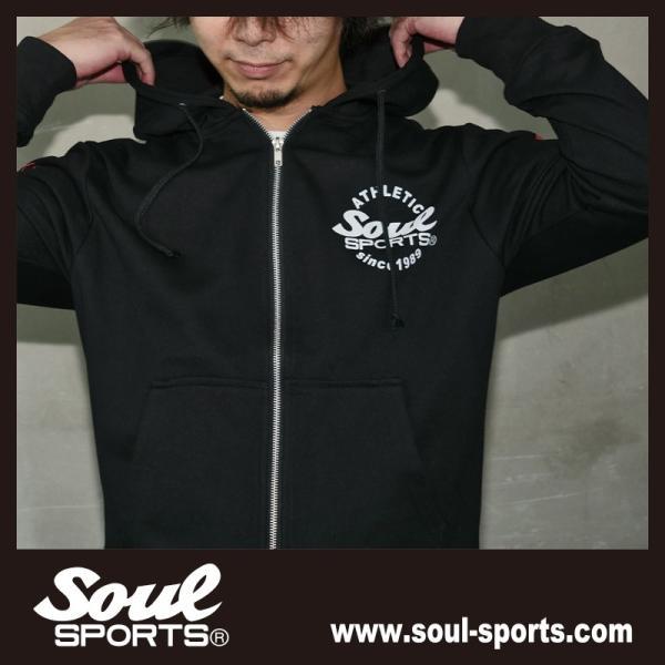 SOUL SPORTSオリジナル 集合ロゴジップパーカ ブラック 2018新作|soul-sports|09