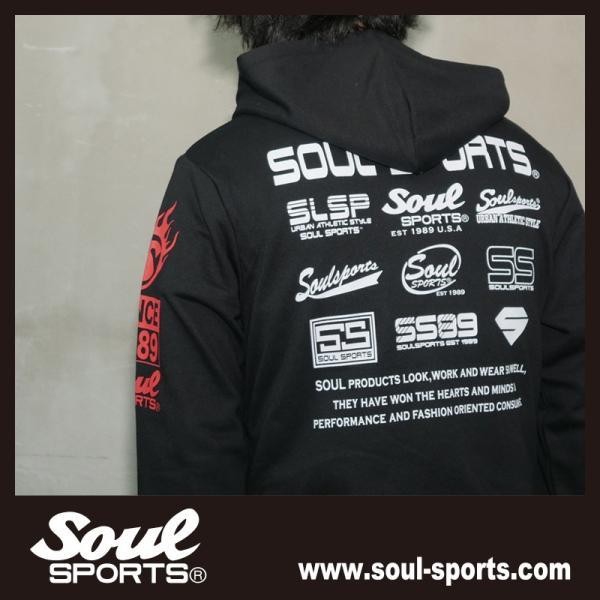 SOUL SPORTSオリジナル 集合ロゴジップパーカ ブラック 2018新作|soul-sports|10