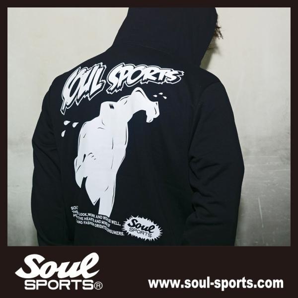 SOUL SPORTSオリジナル アメコミ風ダッシュマンロゴジップパーカ ブラック 2018新作|soul-sports|11