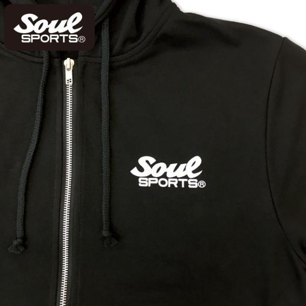 SOUL SPORTSオリジナル アメコミ風ダッシュマンロゴジップパーカ ブラック 2018新作|soul-sports|06