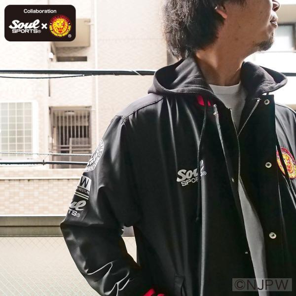 新日本プロレス×SOUL SPORTSコラボ クラシック新日ロゴライトスタジャン ブラック 2018新作 soul-sports 14
