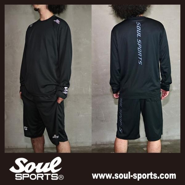 SOUL SPORTSオリジナル 「S」マーク反射ロゴ 長袖ドライTシャツ ブラック 2019新作|soul-sports|09