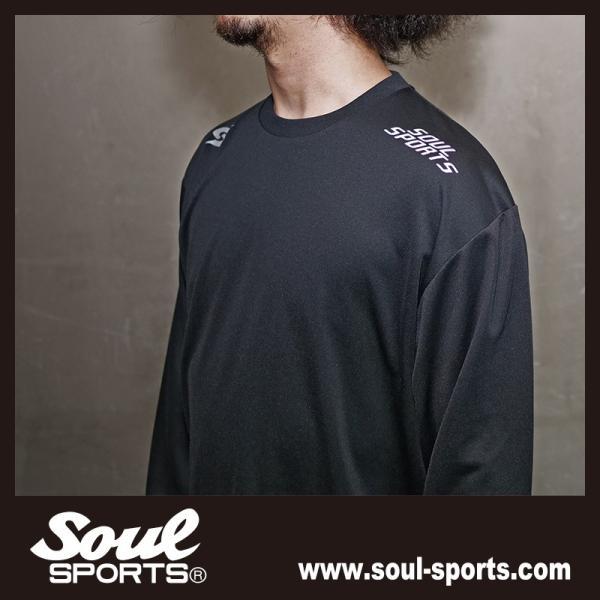 SOUL SPORTSオリジナル 「S」マーク反射ロゴ 長袖ドライTシャツ ブラック 2019新作|soul-sports|10