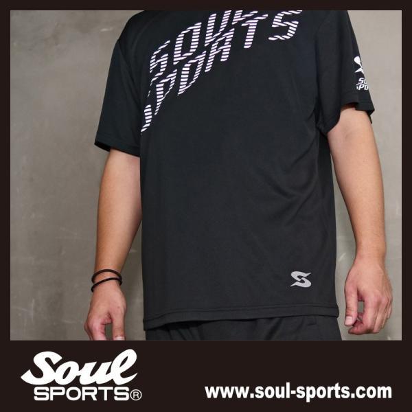 SOUL SPORTSオリジナル 「S」マーク反射ロゴ 半袖ドライTシャツ ブラック 2019新作|soul-sports|10