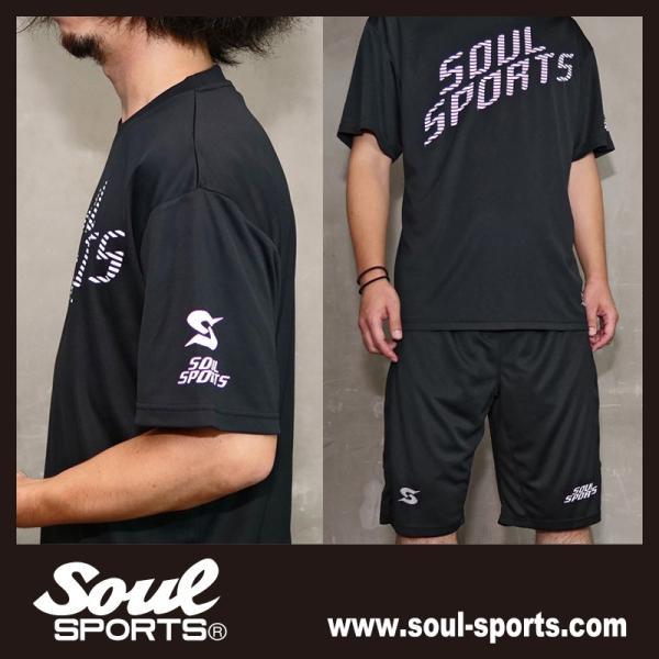 SOUL SPORTSオリジナル 「S」マーク反射ロゴ 半袖ドライTシャツ ブラック 2019新作|soul-sports|12