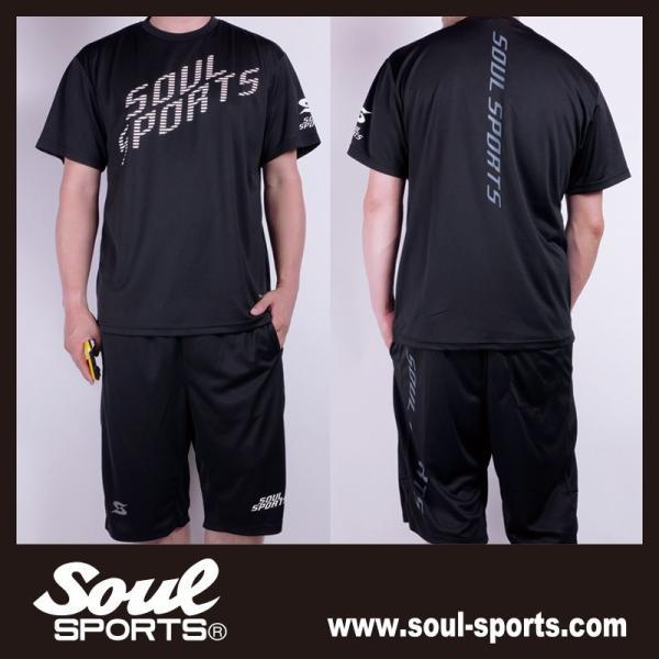 SOUL SPORTSオリジナル 「S」マーク反射ロゴ 半袖ドライTシャツ ブラック 2019新作|soul-sports|09
