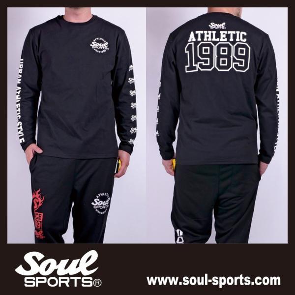 【SOUL SPORTS オリジナル】ナンバリングATHLETICロゴ 長袖Tシャツ コットン100% ホワイト/ブラック 2019新作|soul-sports|12