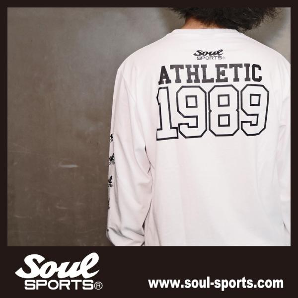 【SOUL SPORTS オリジナル】ナンバリングATHLETICロゴ 長袖Tシャツ コットン100% ホワイト/ブラック 2019新作|soul-sports|15