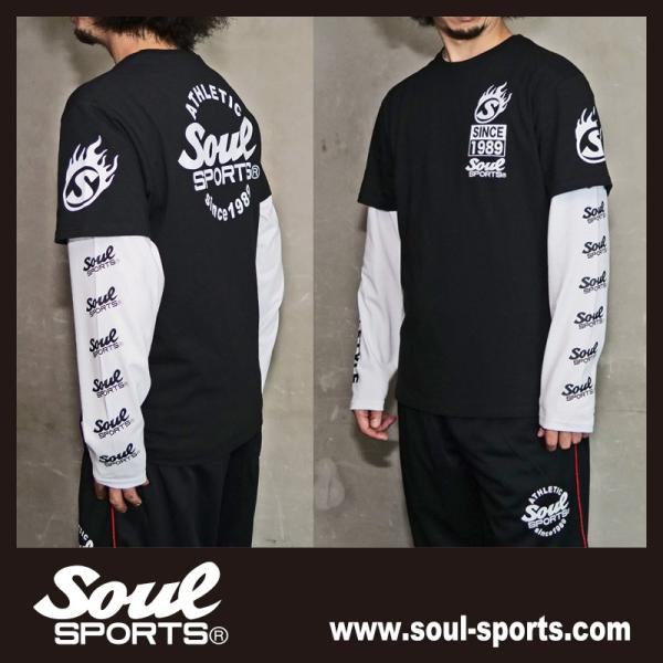 【SOUL SPORTS オリジナル】ナンバリングATHLETICロゴ 長袖Tシャツ コットン100% ホワイト/ブラック 2019新作|soul-sports|16