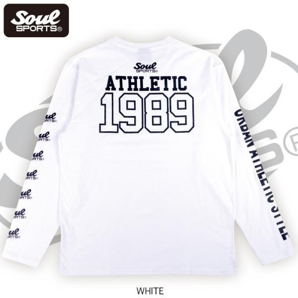 【SOUL SPORTS オリジナル】ナンバリングATHLETICロゴ 長袖Tシャツ コットン100% ホワイト/ブラック 2019新作|soul-sports|05