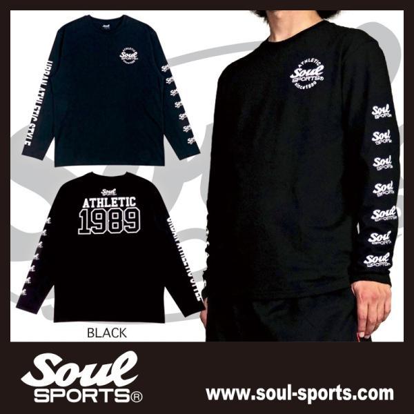 【SOUL SPORTS オリジナル】ナンバリングATHLETICロゴ 長袖Tシャツ コットン100% ホワイト/ブラック 2019新作|soul-sports|08