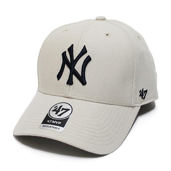 '47 フォーティーセブン ニューヨーク ヤンキース キャップ 帽子 YANKEES '47 MVP CAP メジャーリーグ MLB カーブバイザー ボーンホワイト 白系