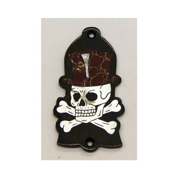GuitarHeads / Truss Rod Cover with Skull & Top Hat Inlay Gibson 直輸入|soundmama-e|01