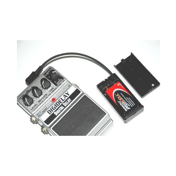 バッテリースナップ(DC9V乾電池用 ON・OFFスイッチ付ボックス) L型DCプラグ付 soundmomo 04