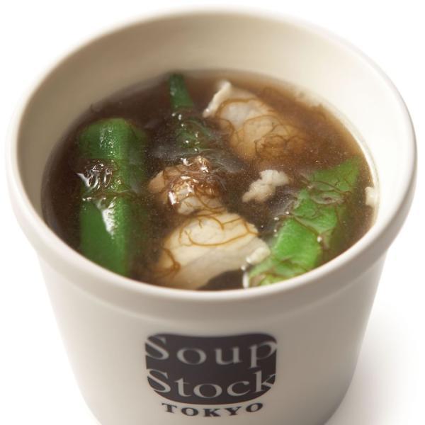 【季節限定】久米島産もずくとオクラのスープ 180g|soup-stock-tokyo