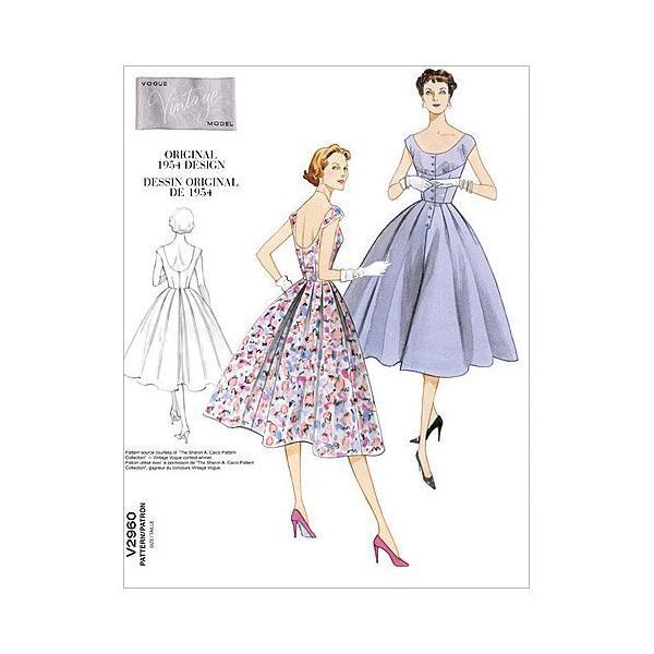ミスのドレス - AAX (4-6 - 8-10) パターン