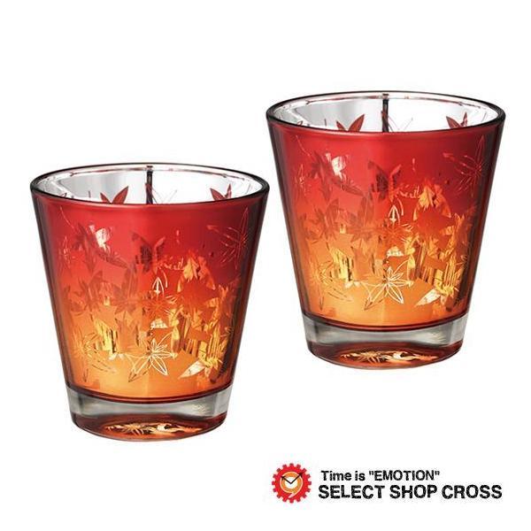 One Style ワンスタイル ELEGANT STYLE エレガントスタイル Momiji 紅葉グラス ペアセット もみじオレンジ2個 1426set|southern-cross9