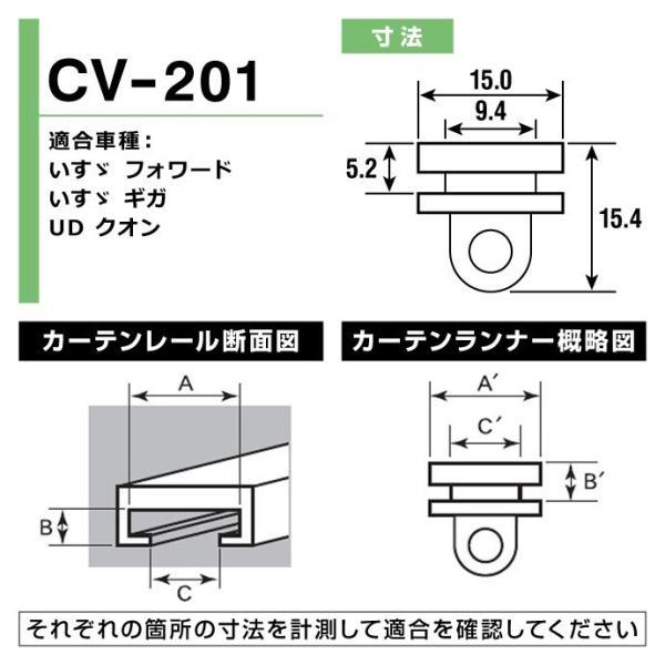 トラック用カーテンランナー(ヤック製) / CV-201 適合車種:いすゞ フォワード・いすゞ ギガ・UD クオン sovie-store 02