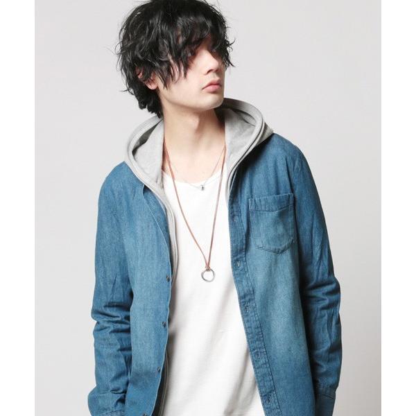 日本製 レザー コード リング ネックレス ネックレス・ペンダント 男女兼用アクセサリー ジュエリー・アクセサリー メンズファッション|soyous|04