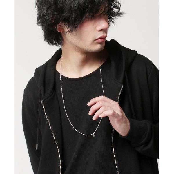 日本製 カラー ボールチェーン ロング ネックレス メンズ|soyous|02