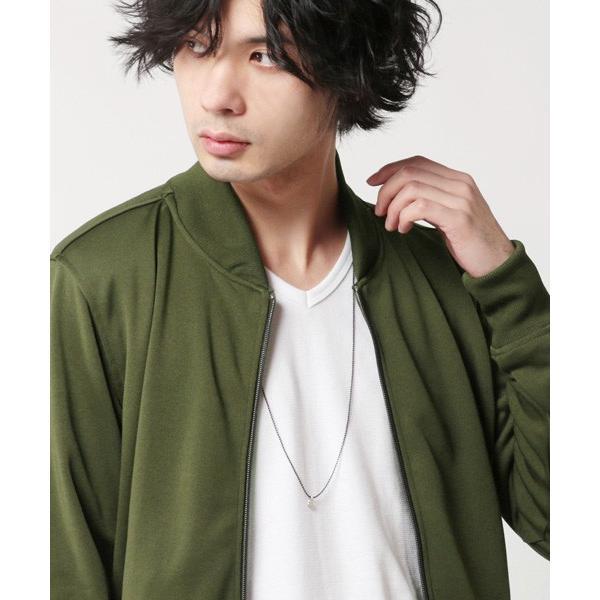 日本製 カラー ボールチェーン ロング ネックレス メンズ|soyous|03