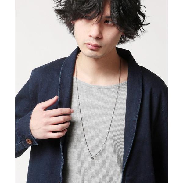 日本製 カラー ボールチェーン ロング ネックレス メンズ|soyous|04