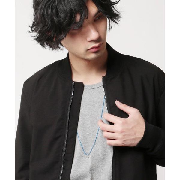 日本製 カラー ボールチェーン ロング ネックレス メンズ|soyous|05