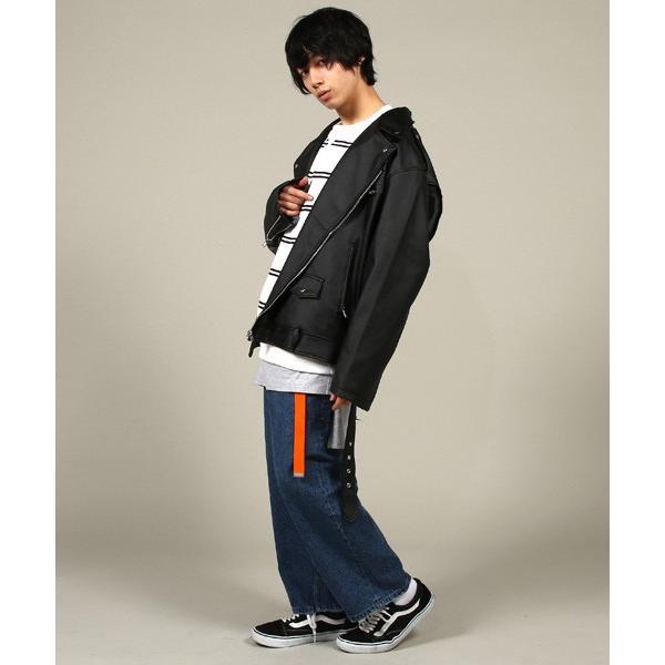 日本製 パール メッキ バックル 細幅 ロング ガチャ ベルト 25mm たらしファッション GIベルト 長め メンズ|soyous|04