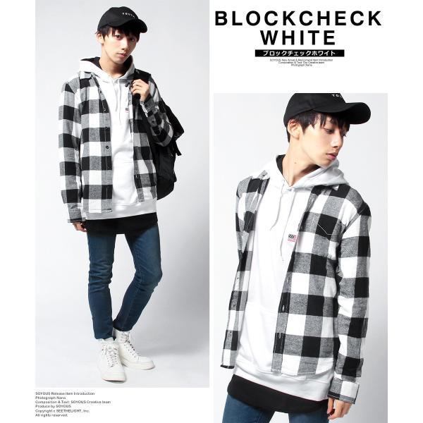 チェックシャツ メンズ ネルシャツ 長袖 フランネル|soyous|02