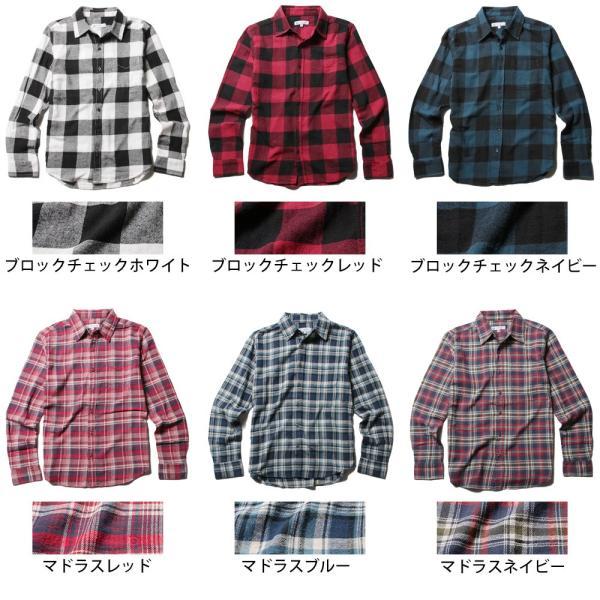 チェックシャツ メンズ ネルシャツ 長袖 フランネル|soyous|05