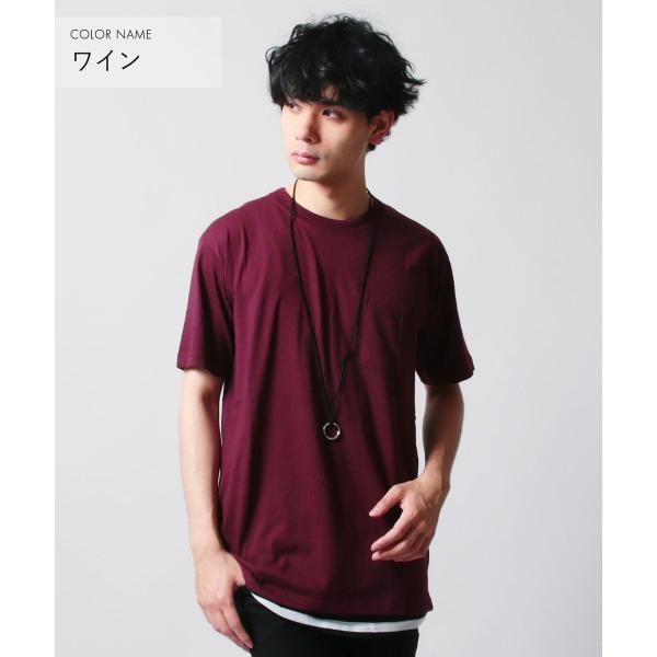 クルーネック 半袖 Tシャツ ボーダー ロング丈 ビックシルエット タンクトップ アンサンブル SET メンズ|soyous|05