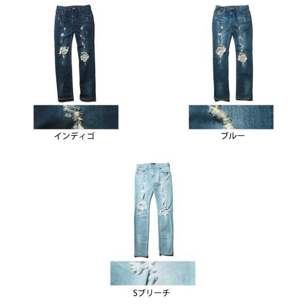 クラッシュ デニム メンズ ダメージ 加工 パンツ|soyous|06