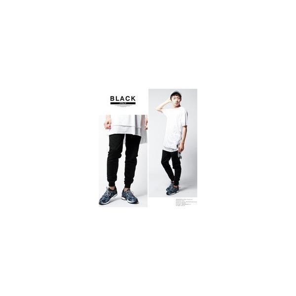 ウエスト リブ 裏毛 スウェット スリム ジョガーパンツ メンズ|soyous|05