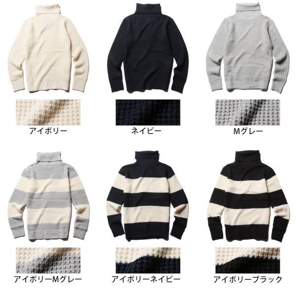タートル ネック ラーベン編み ニット メンズ|soyous|06