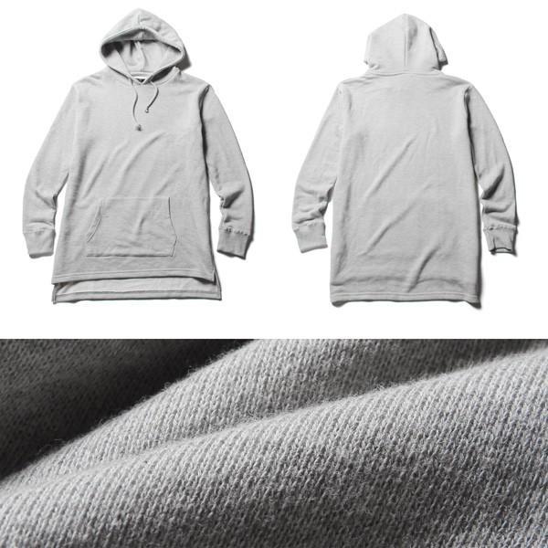 裾スリット ビッグシルエット ロング丈 パーカー メンズ|soyous|05