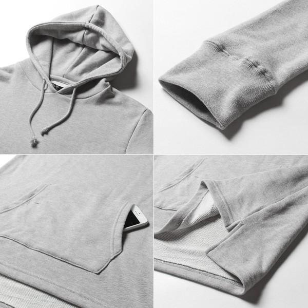 裾スリット ビッグシルエット ロング丈 パーカー メンズ|soyous|06