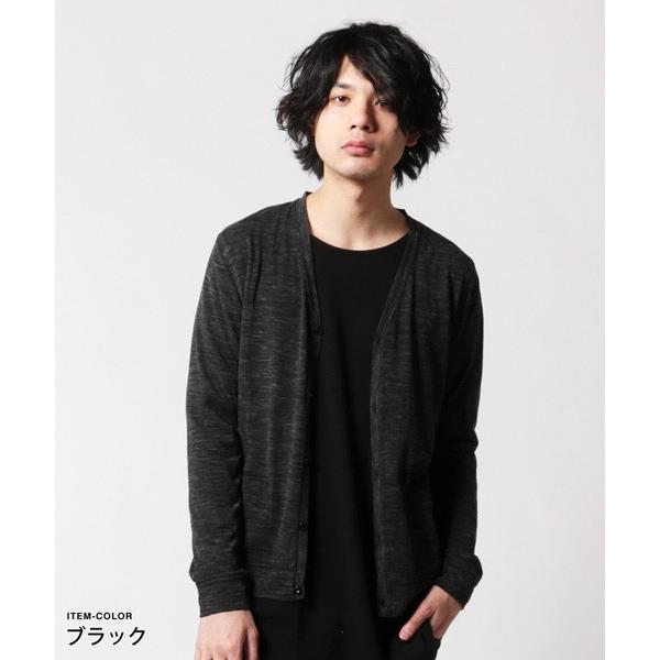 メンズ カーディガン 春 メンズファッション 引き揃え杢 天竺 Vネック|soyous|03