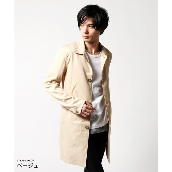 メンズ コート 春 メンズファッション 撥水 テンセル ストレッチ ステンカラー|soyous|02