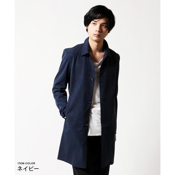 メンズ コート 春 メンズファッション 撥水 テンセル ストレッチ ステンカラー|soyous|03