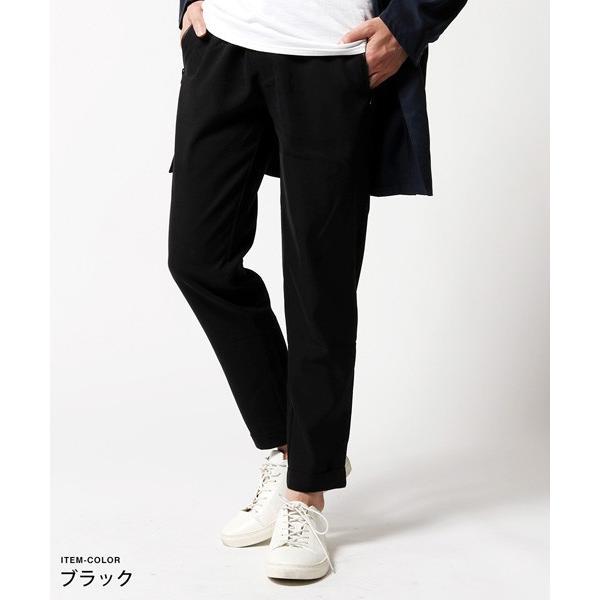 メンズ パンツ 春 メンズファッション 撥水 テンセル ストレッチ テーパードパンツ|soyous|02