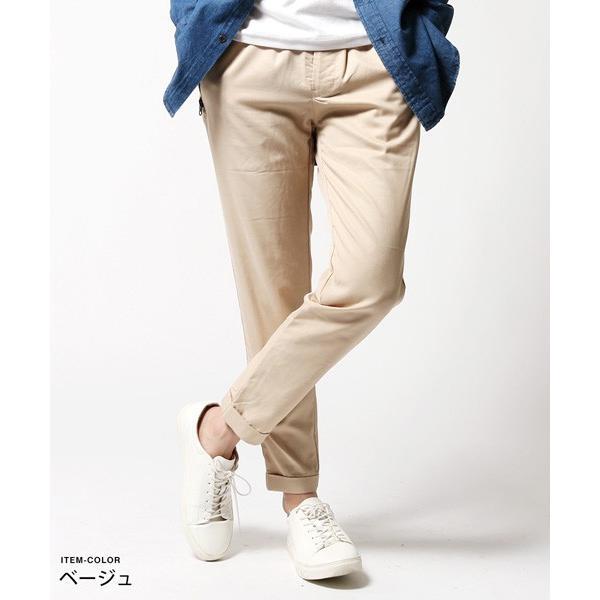 メンズ パンツ 春 メンズファッション 撥水 テンセル ストレッチ テーパードパンツ|soyous|03