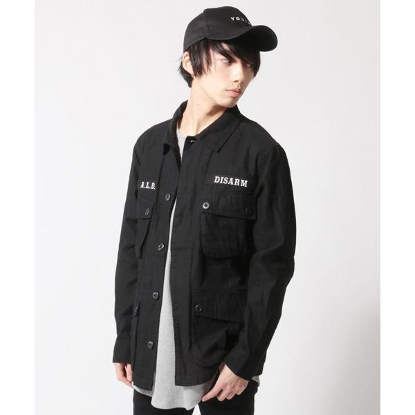 ミリタリー ジャケット メンズ ワッペン付き サファリジャケット|soyous|03