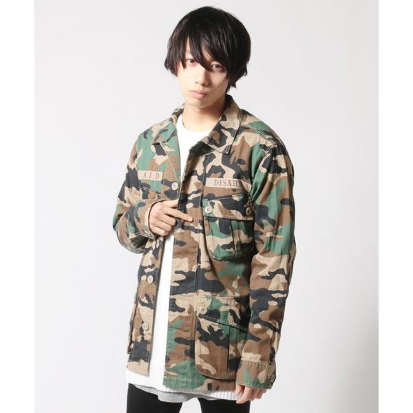 ミリタリー ジャケット メンズ ワッペン付き サファリジャケット|soyous|04