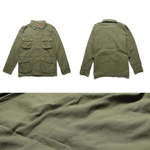 ミリタリー ジャケット メンズ ワッペン付き サファリジャケット|soyous|05