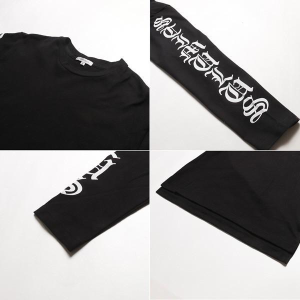 袖プリント ロング丈Tシャツ ビッグシルエット トップス メンズ|soyous|06