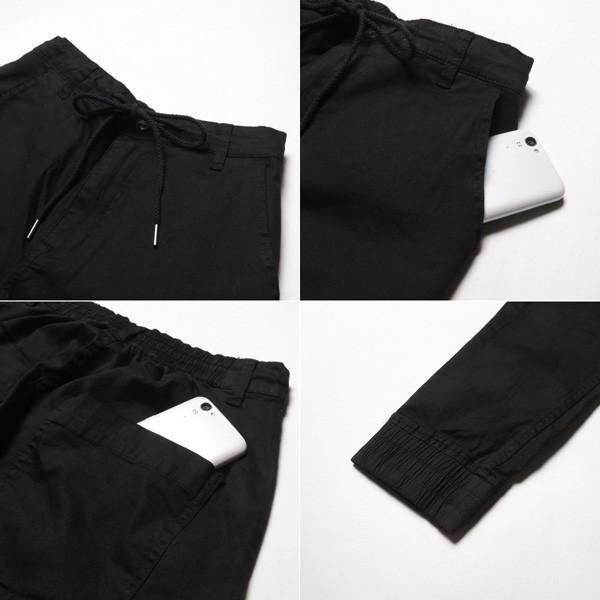 ブロークンツイル テーパード ジョガーパンツ メンズ|soyous|06