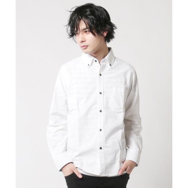 アンサンブル オックスシャツ ボタンダウン 長袖シャツ 半袖ボーダー Tシャツ メンズ|soyous|02