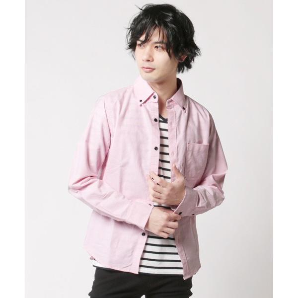 アンサンブル オックスシャツ ボタンダウン 長袖シャツ 半袖ボーダー Tシャツ メンズ|soyous|03