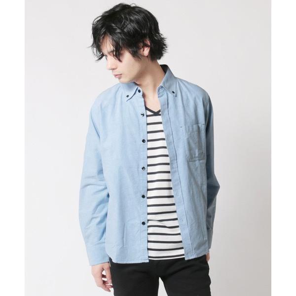アンサンブル オックスシャツ ボタンダウン 長袖シャツ 半袖ボーダー Tシャツ メンズ|soyous|04