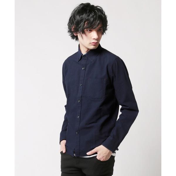 アンサンブル オックスシャツ ボタンダウン 長袖シャツ 半袖ボーダー Tシャツ メンズ|soyous|05